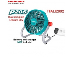 Quạt máy dùng pin Lithium 20V TOTAL TFALI2002 (KHÔNG KÈM PIN VÀ SAC)