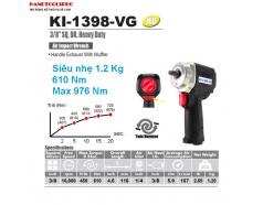 Súng vặn bulong 3/8 inch 2 búa 976N.N.m KUANI KI-1398-VG