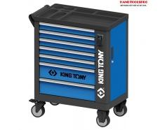 Tủ đồ nghề 7 ngăn sử dụng ổ khóa thẻ từ 755x455x807mm Kingtony 87G36-7BA-KB