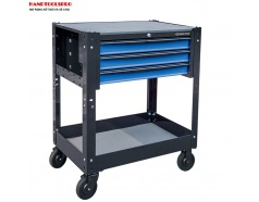 Xe đẩy công cụ 3 tầng kèm ngăn kéo 765 x 490 x 760mm Kingtony 87446-3B-KB